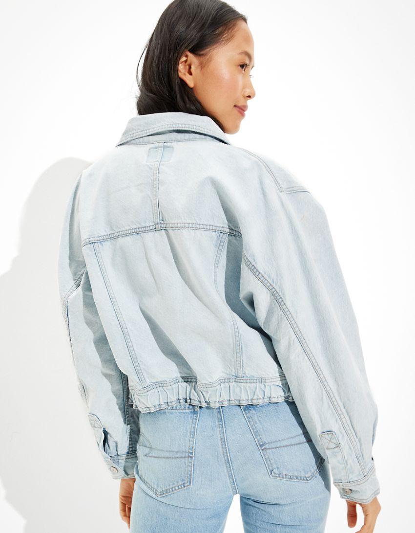 AE Elastic Waist Denim Jacket