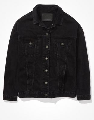 AE Black Boyfriend Denim Jacket