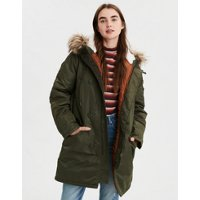 Deals on American Eagle Womens Satin Parka