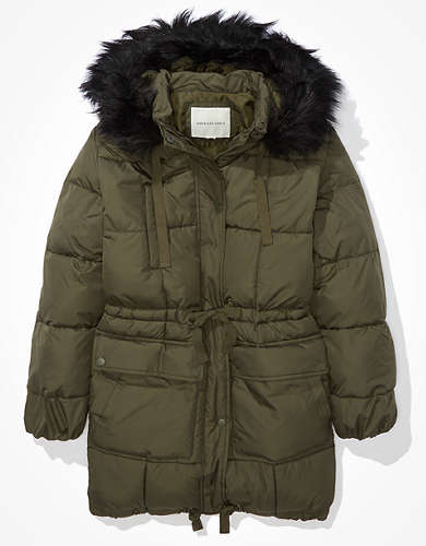 AE Long Puffer Coat
