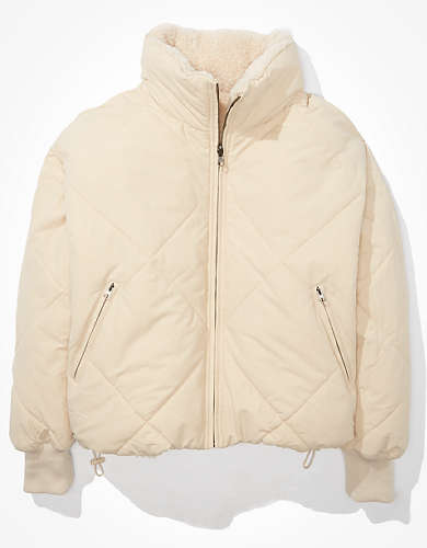 AE Cropped Quilted Puffer Jacket