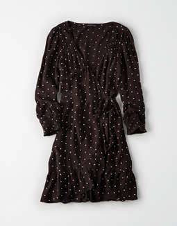 Ae Long Sleeve Wrap Dress by American Eagle Outfitters
