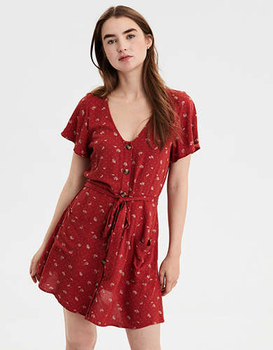Scoop Neck Dress American Eagle Outfitters