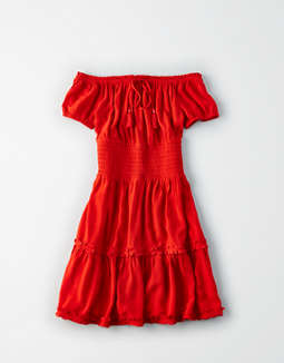ae-off-the-shoulder-babydoll-dress by american-eagle-outfitters