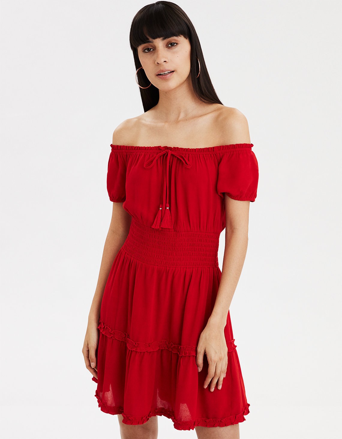 ce0be7f7e4 AE Off-The-Shoulder Babydoll Dress