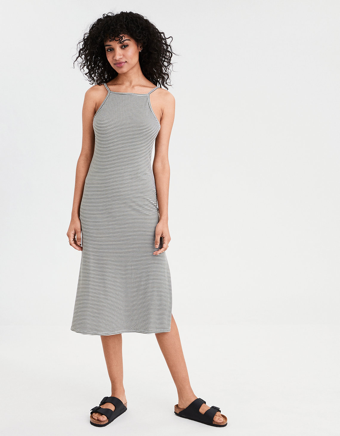 AE Knit Ribbed Midi Dress