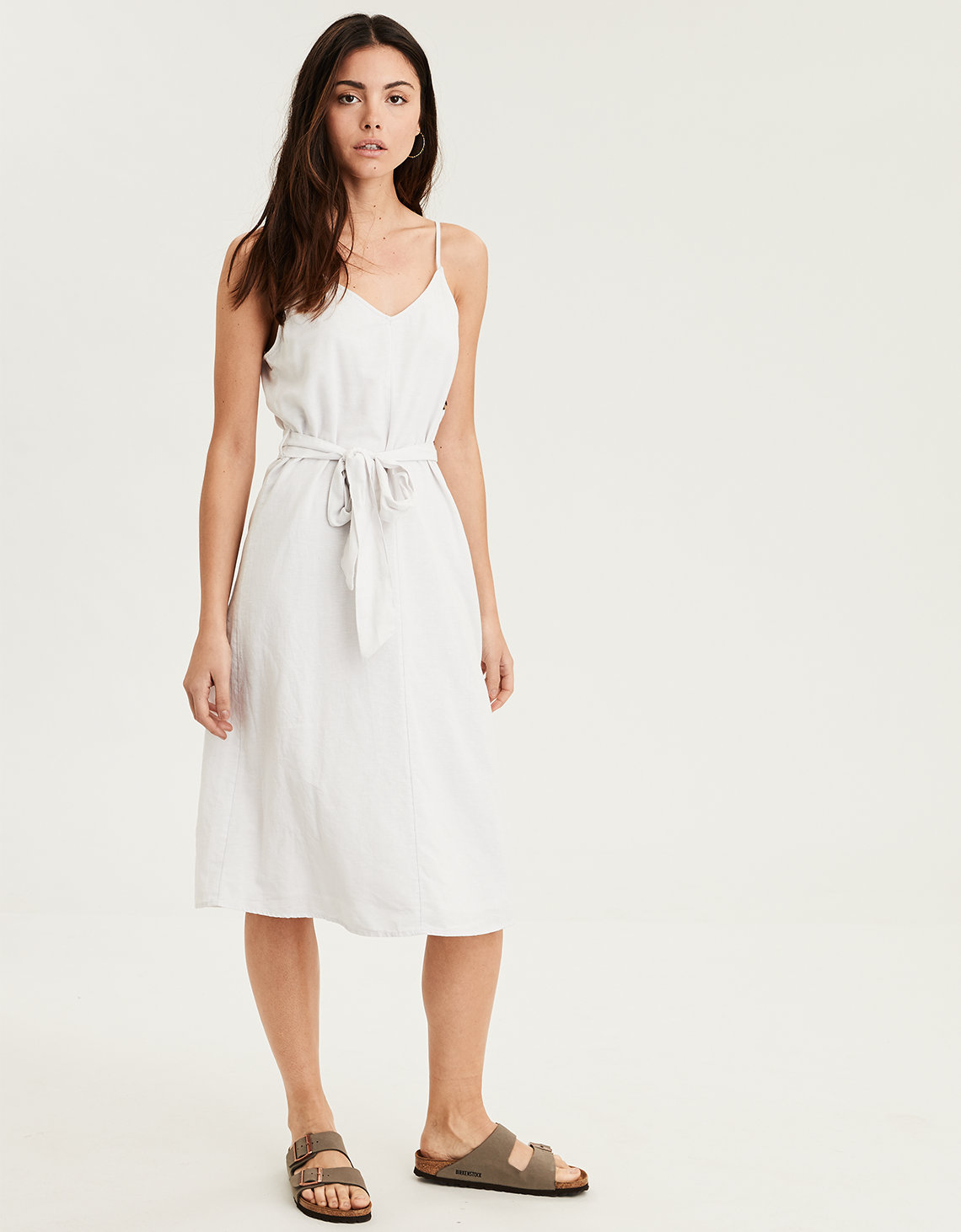 03d19a627cb AE Side Button Midi Dress. Placeholder image. Product Image