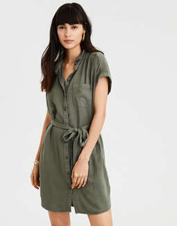 AE Button Down Shirt Dress