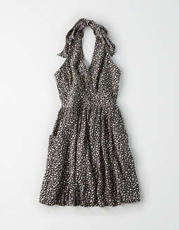 Ae Halter Babydoll Dress by American Eagle Outfitters