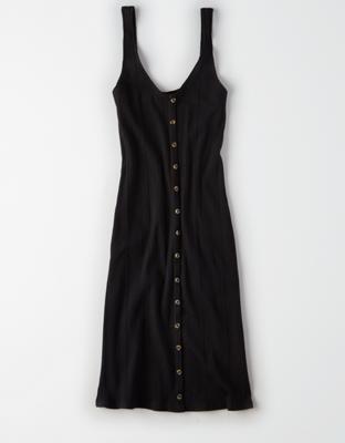 AE 니트 버튼 다운 드레스