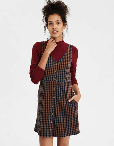 AE Plaid Pocket Dress