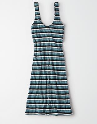 AE 니트 버튼 프런트 드레스