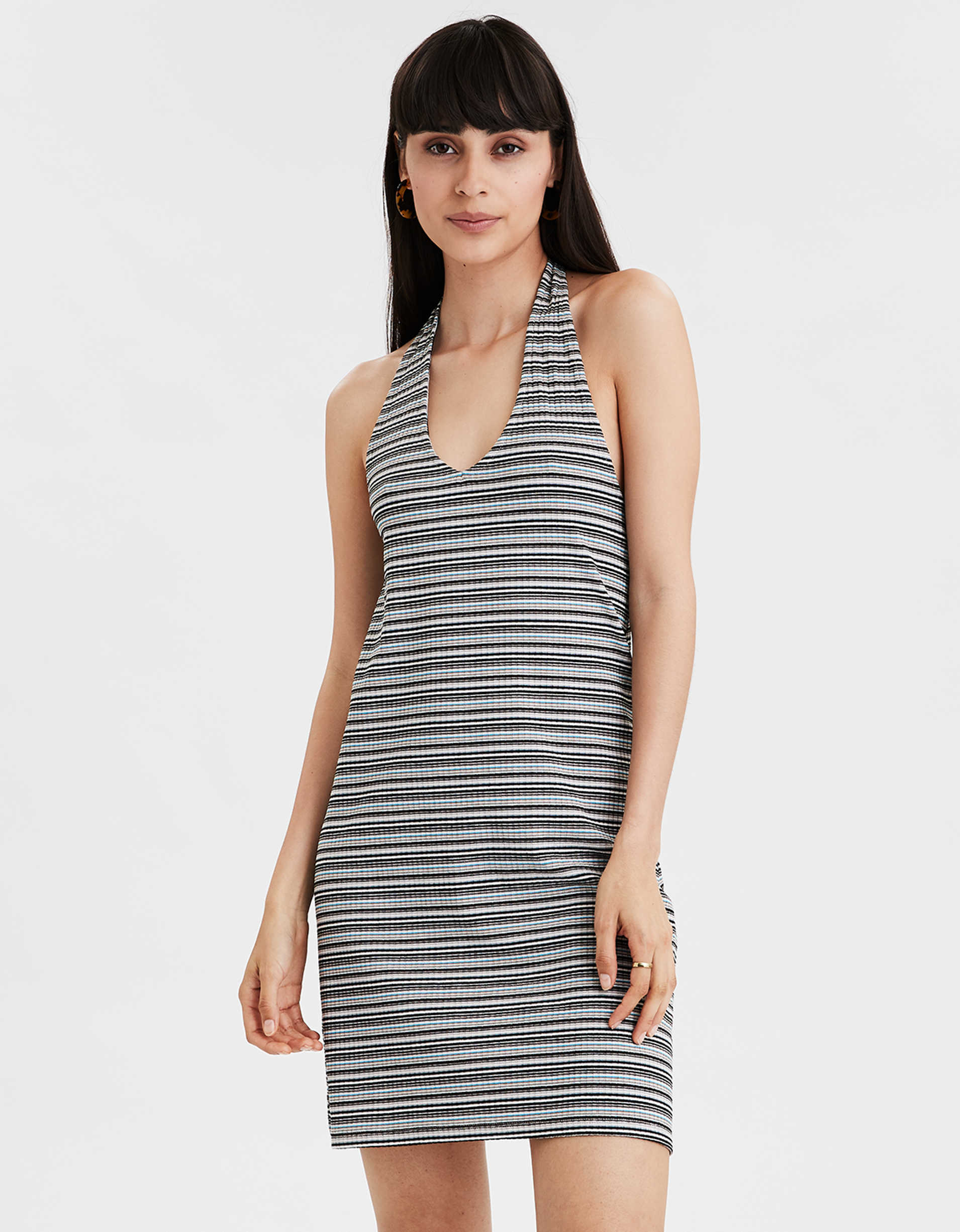 AE Striped Halter Dress