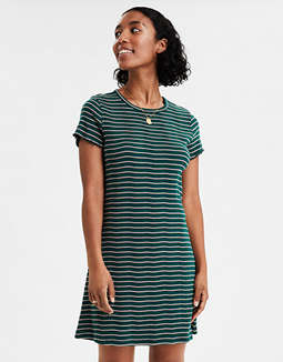 AE  Striped Knit T-Shirt Dress