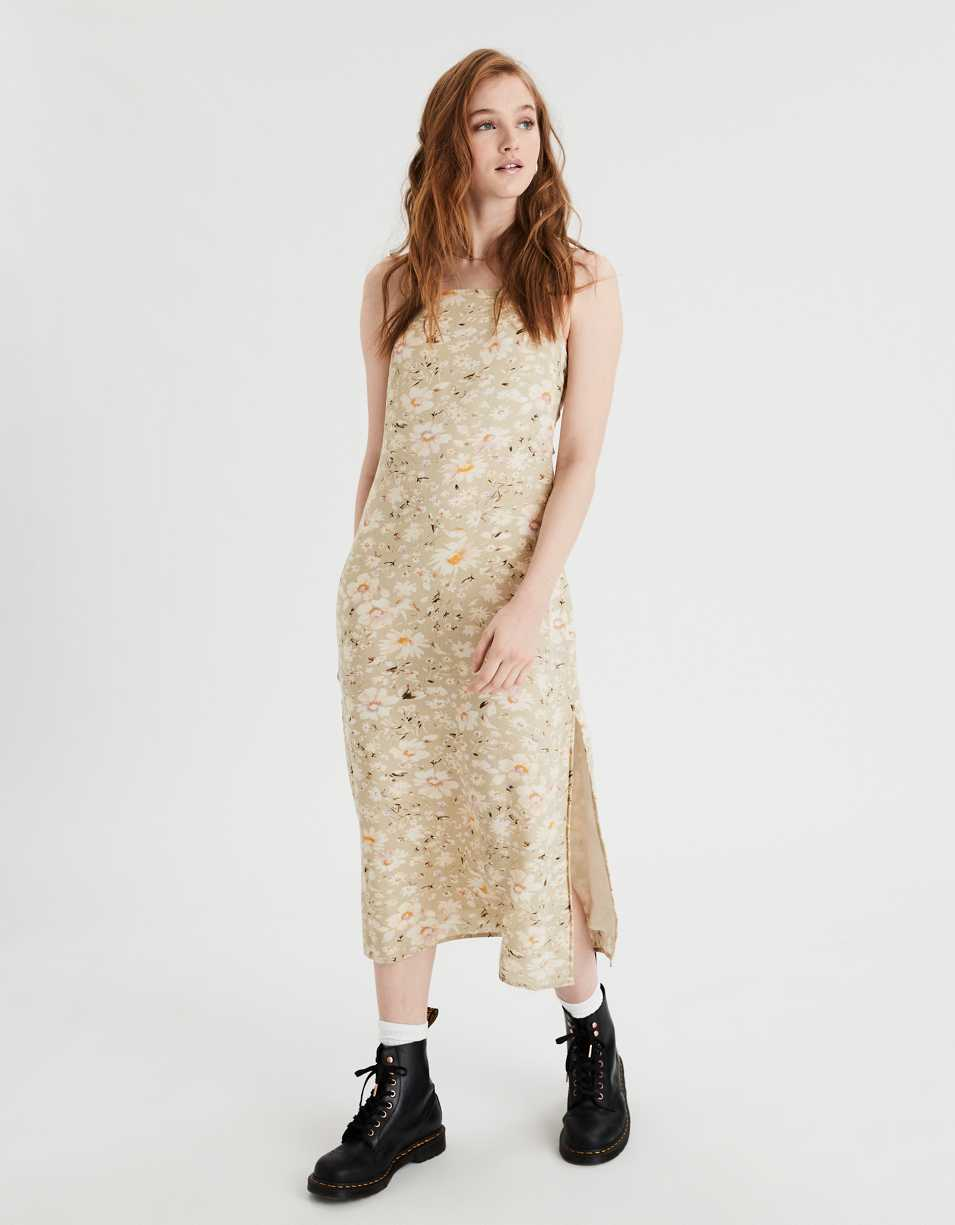 AE Printed Midi Slip Dress