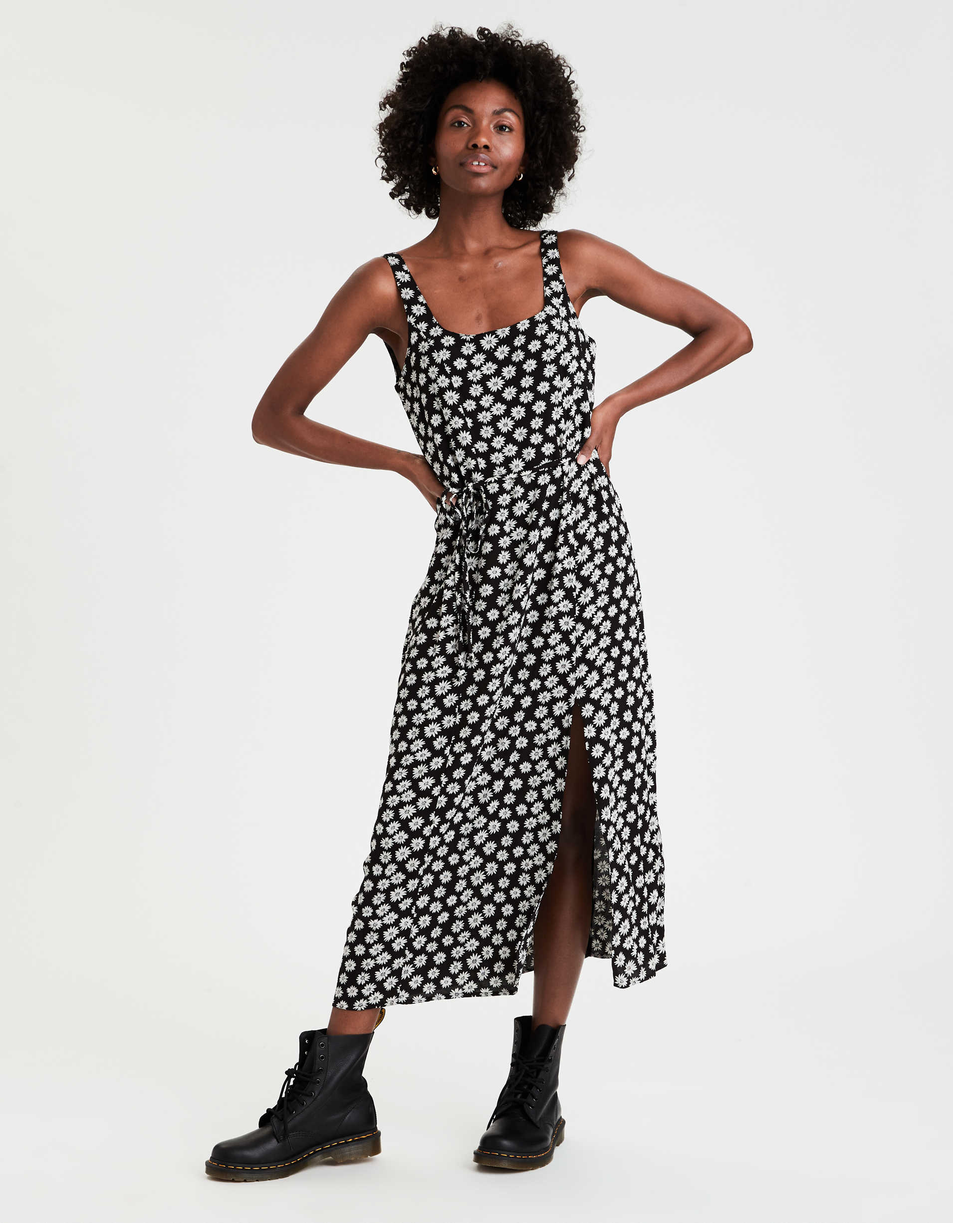 Printed Scoop Neck Maxi Dress