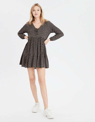 AE Long Sleeve Babydoll Dress