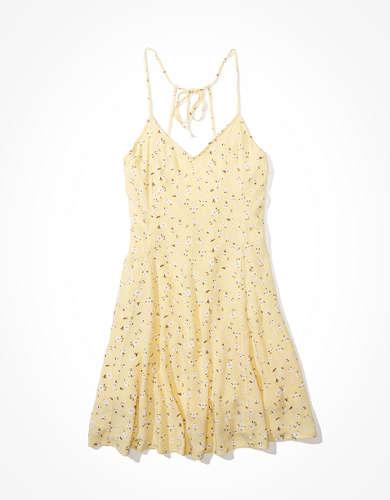 שמלת מיני עם קשירה מאחורה