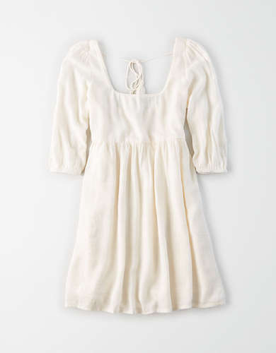 AE Puff Sleeve Babydoll Dress