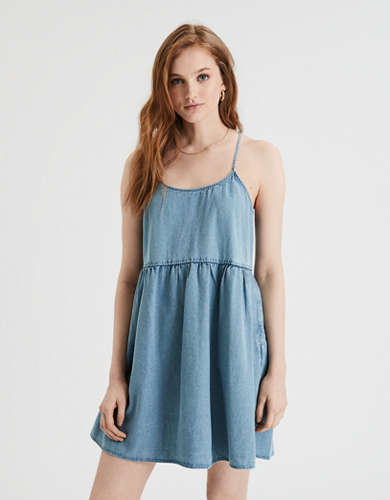 AE Denim Strappy Babydoll Dress