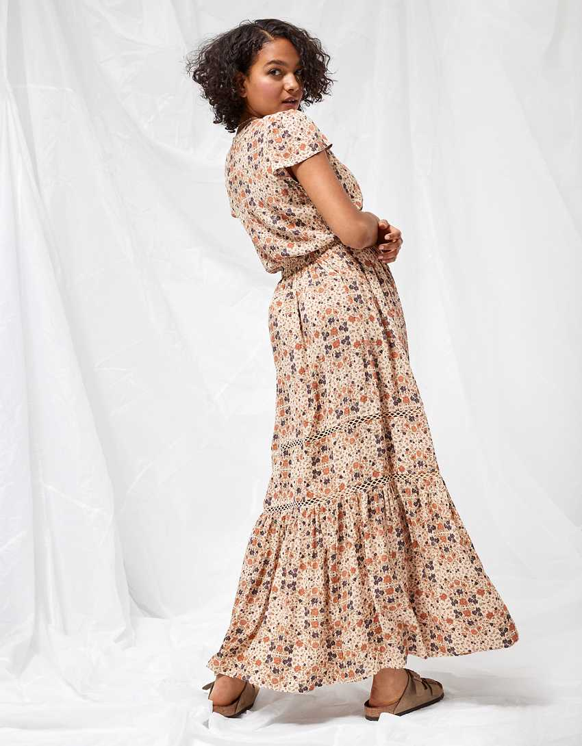 AE Printed Tiered Maxi Dress