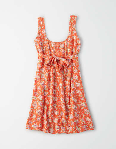 AE Button Front Mini Dress