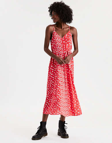 AE Floral Print Midi Slip Dress