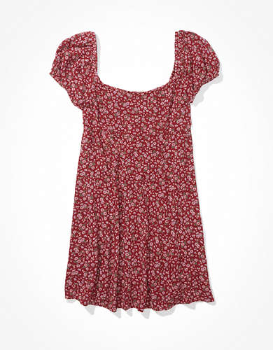 שמלת מיני שרוול נפוח אמריקן איגל