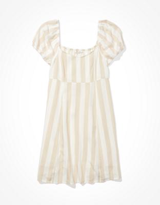 AE 퍼프 슬리브 미니 드레스