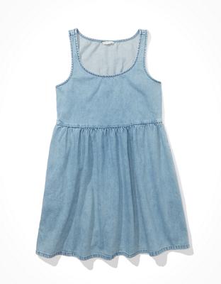 AE Denim Babydoll Dress