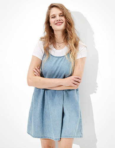 AE Denim Babydoll Dress