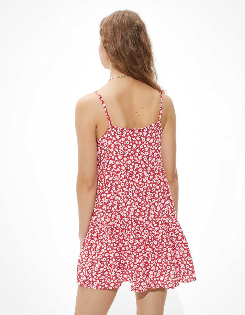 AE Floral Tiered Babydoll Dress