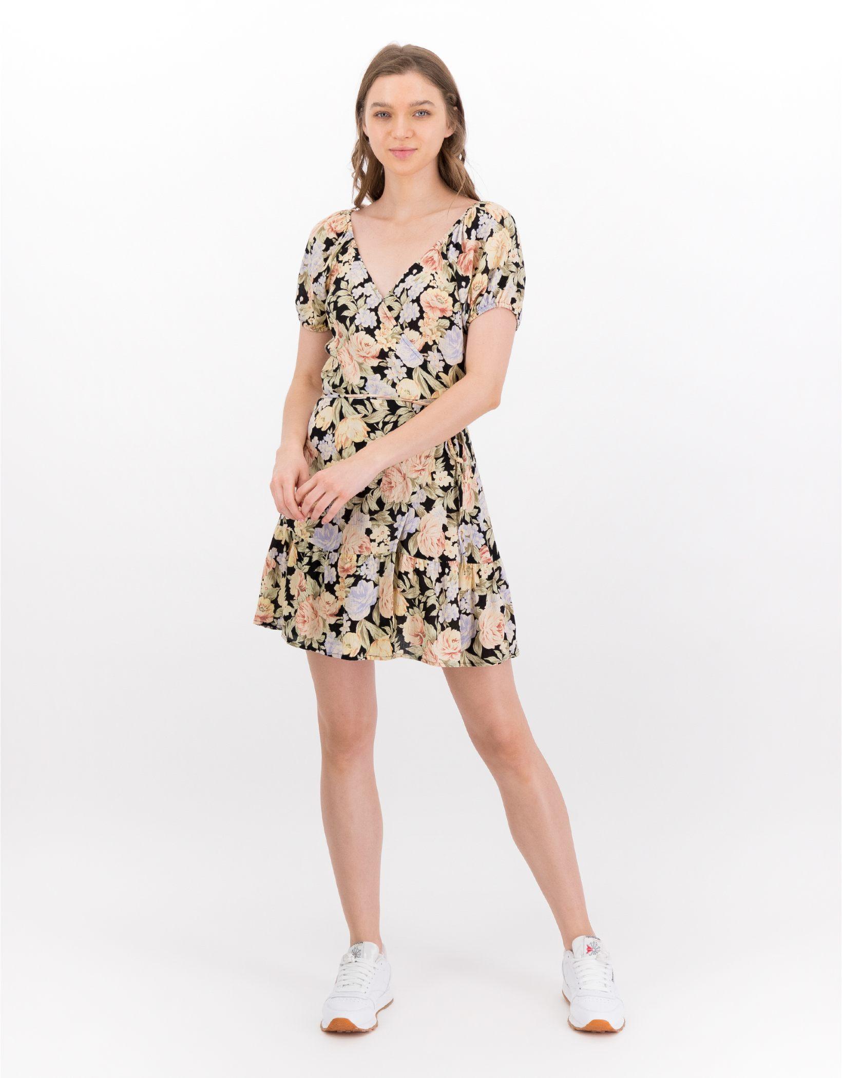 AE Puff-Sleeve Wrap Dress