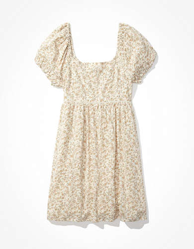 AE Puff-Sleeve Babydoll Mini Dress