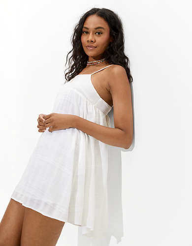 AE Solid Tie-Back Mini Dress