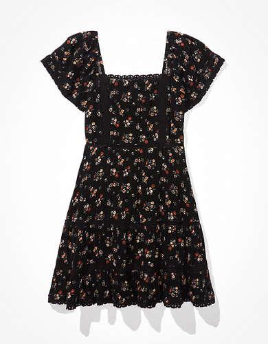 Ярусное кружевное мини-платье AE