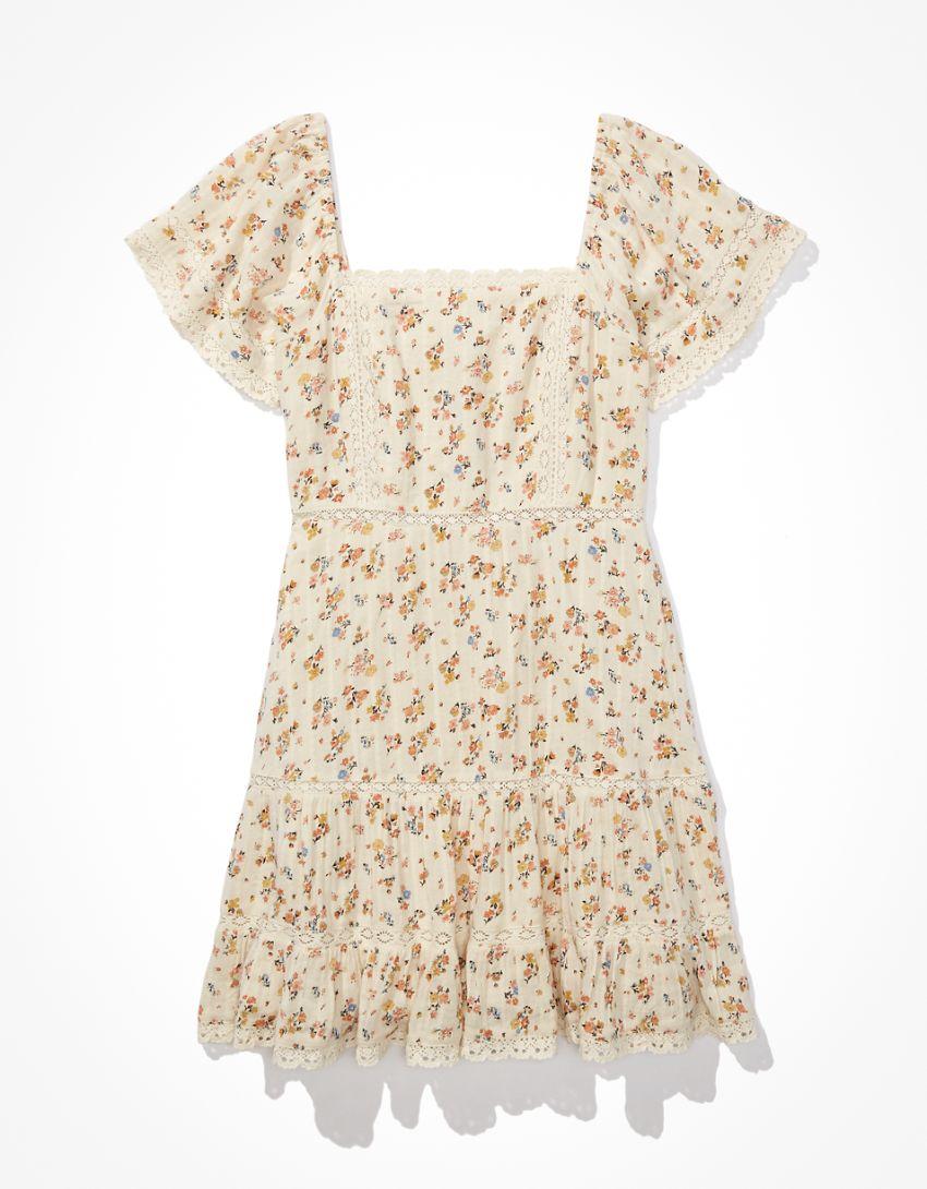AE Tiered Lace Mini Dress