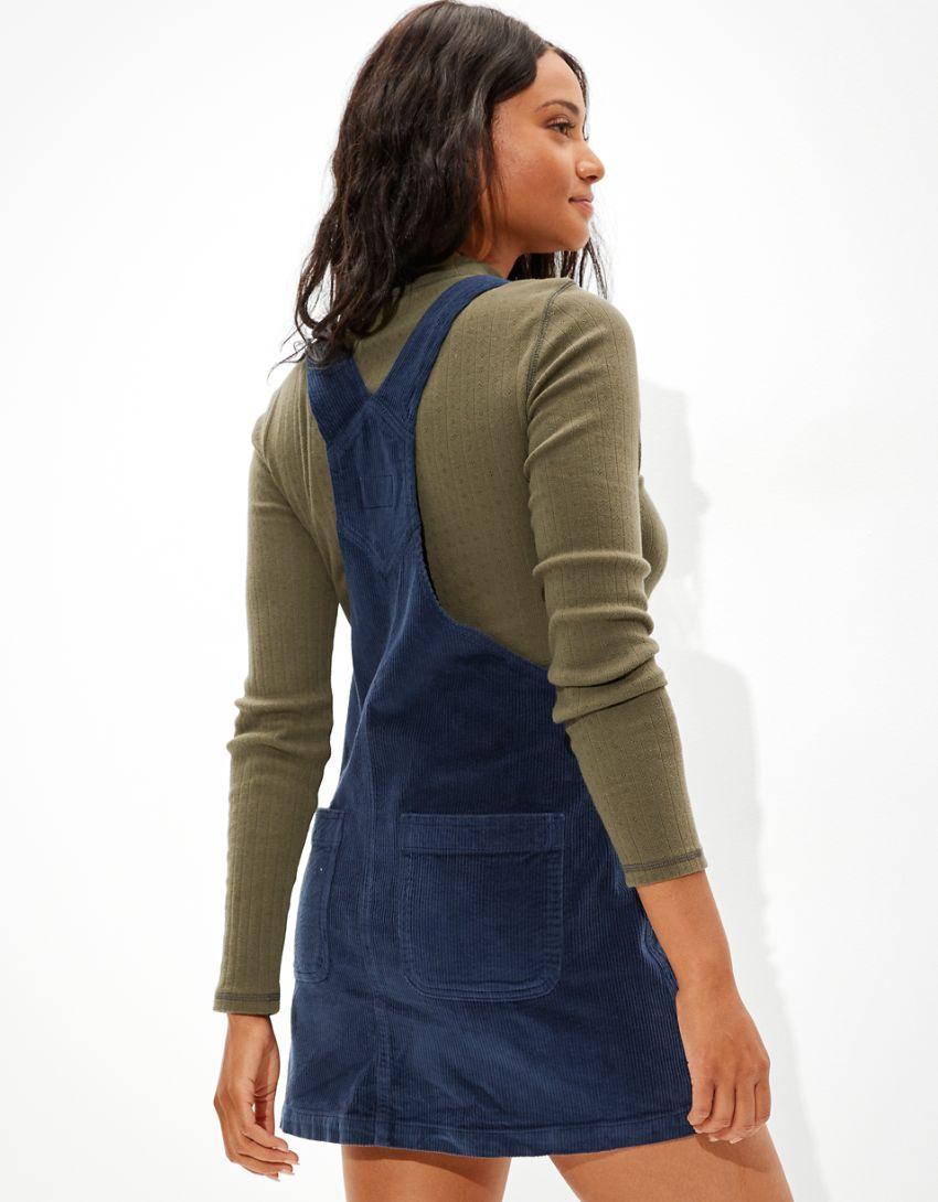 AE Corduroy Overall Mini Dress