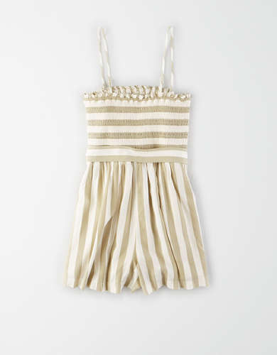AE Smocked Tube Romper