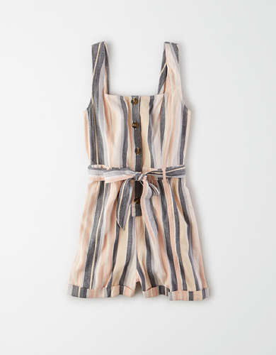 AE Striped Utility Romper