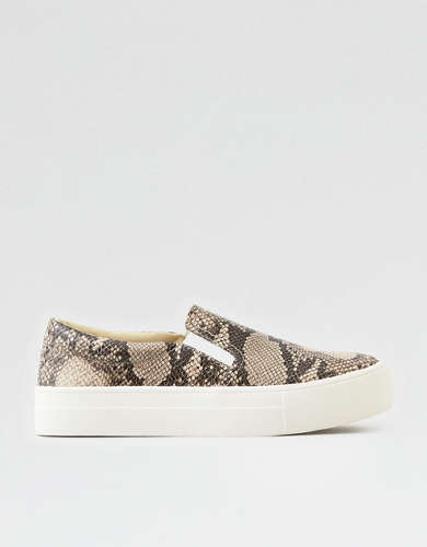 AEO Snakeskin Slip On Shoe