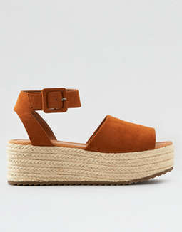 Ae Platform Wedge Sandal by American Eagle Outfitters