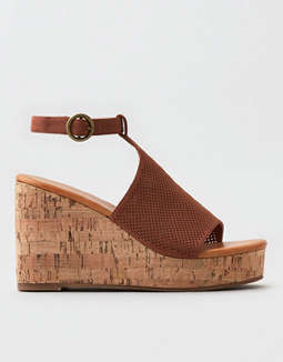 AEO Perforated Wedge Sandals