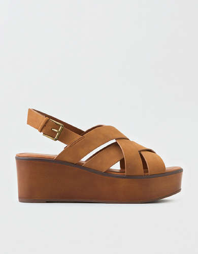 AEO Strappy Wooden Wedge