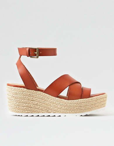 AEO Ankle Strap Espadrille Wedge