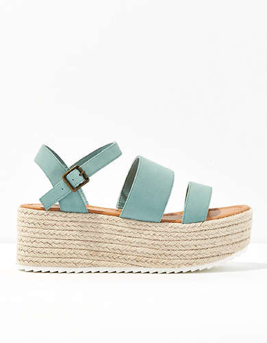 AE Triple Strap Espadrille Wedge