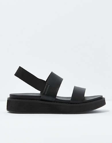 AE Double Strap Faux Wood Flatform