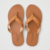 Deals on AEO Folded Strap Leather Flip Flop
