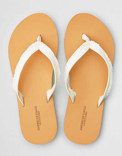 AE Frayed Leather Edge Flip Flop