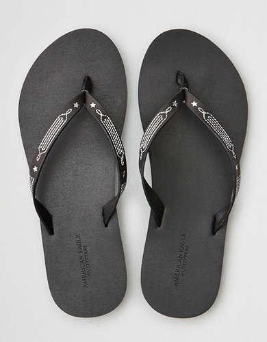 AE Western Leather Flip Flop